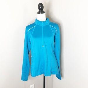 Athleta 1/2 Zip Long Sleeve Athletic Sweater Jacke